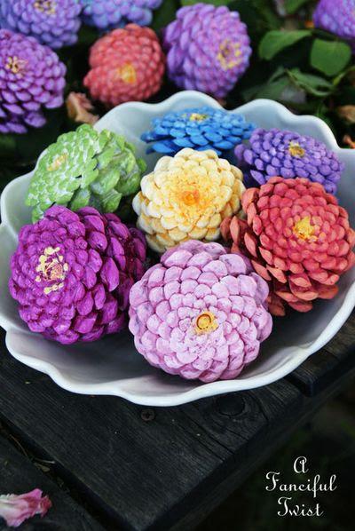 Pinecone flowers 4