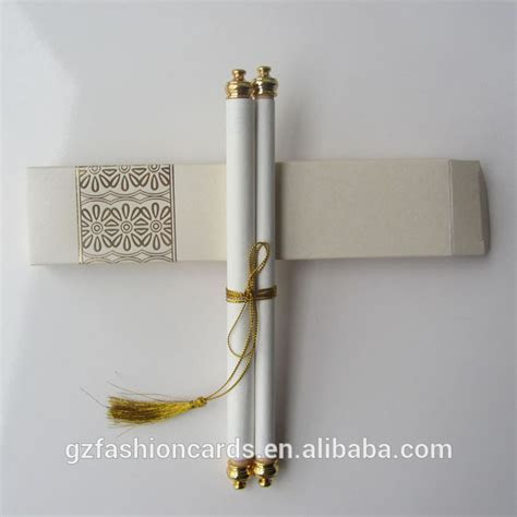 Royal Decree Scroll Invitations SC006 Newest Wedding Cards
