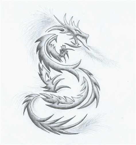 drawing dragon tattoo    side