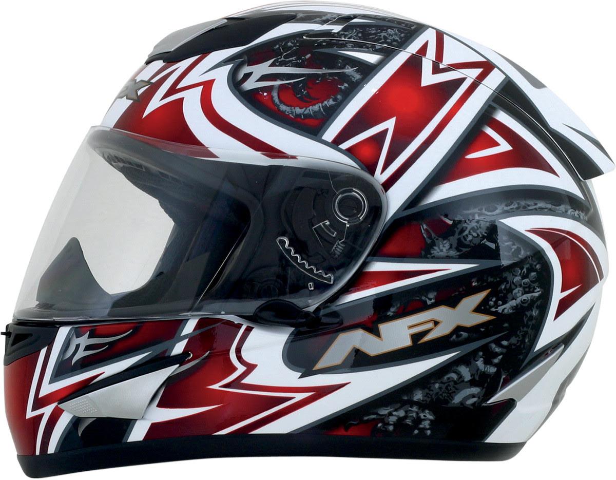 AFX FX-95 Full Face Motorcycle Helmet - Red Mega