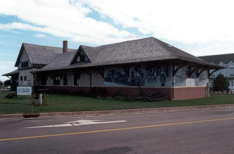 Summerside rotary library, former train station