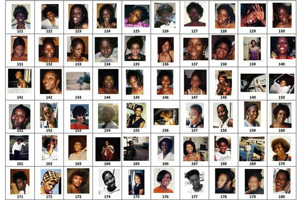 Photographs of 180 women that were seized from the home of Lonnie David Franklin Jr. Pictured - Images 121-180