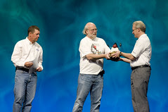 """Randy Bryant, Scott McNealy and James Gosling, General Session """"Java: Change (Y)Our World"""" on June 2, JavaOne 2009 San Francisco"""