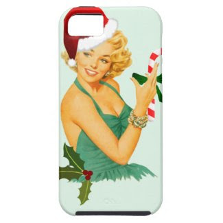 vintage pin up christmas iPhone SE/5/5s case