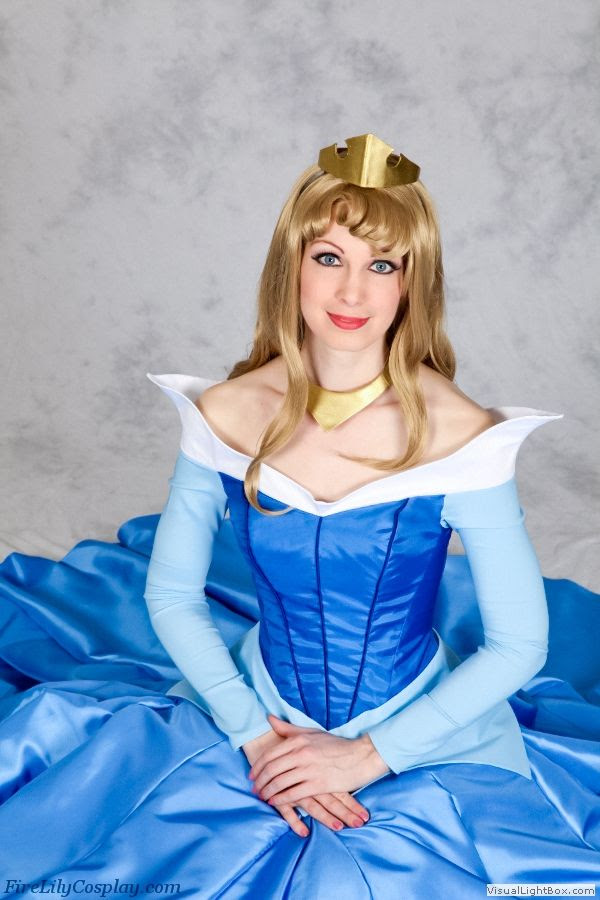 Princess Aurora blue dress construction notes from Disney's Sleeping Beauty - The Home of Fire Lily Cosplay