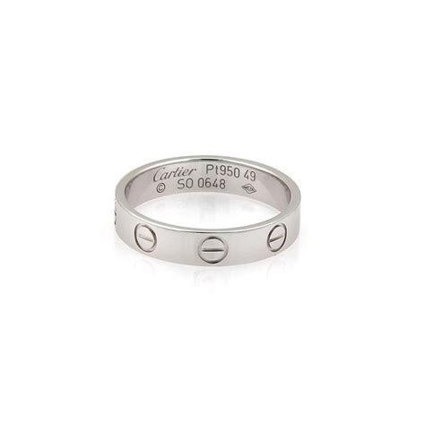 Cartier Platinum Mini Love Wedding Band Ring   Tradesy