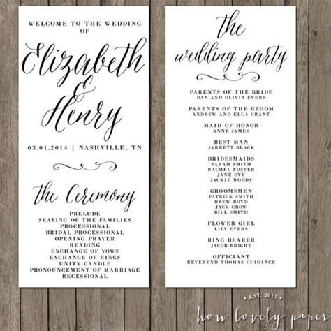 Printable Wedding Program   the Layla Collection   Wedding