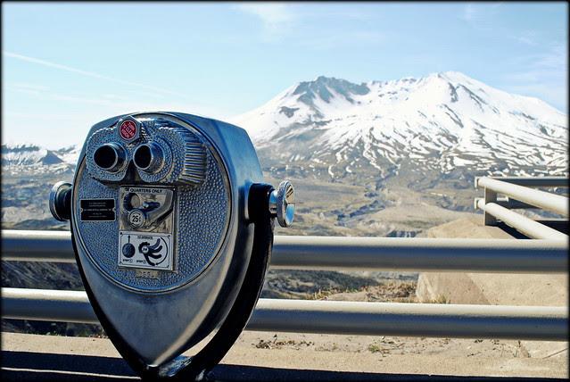 At Johnston Ridge Observatory - Mt. St. Helens