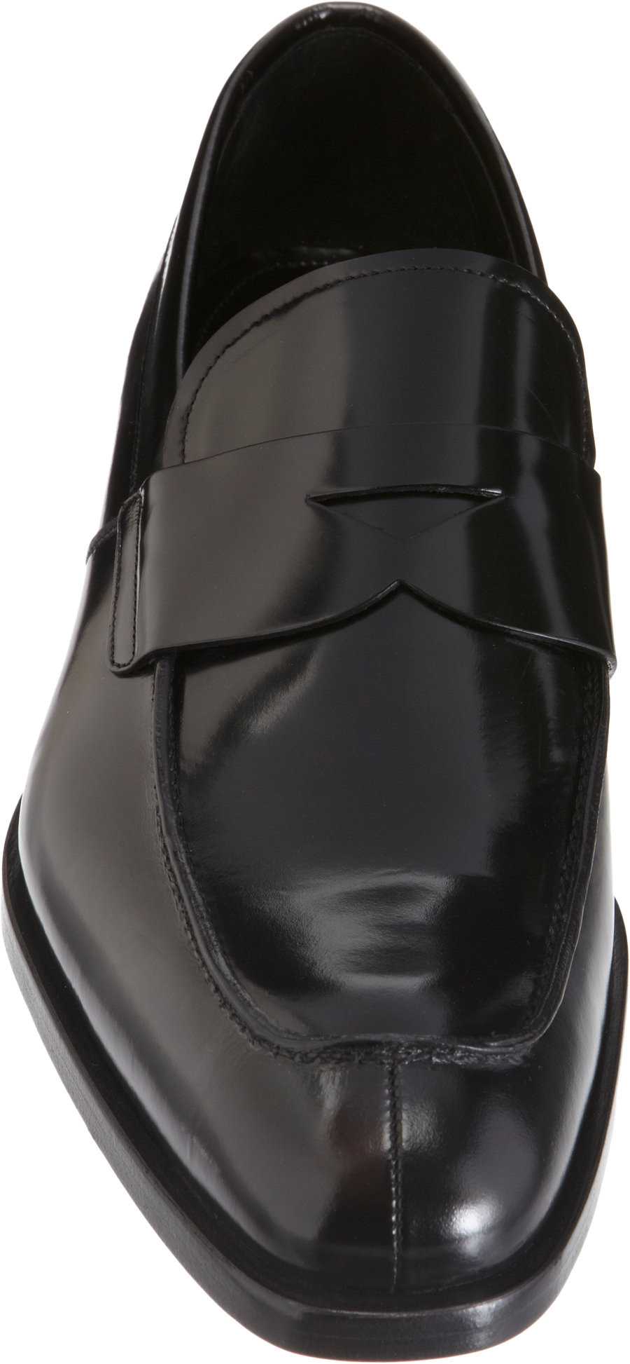 Prada Split Apron Toe Penny Loafer in Black for Men | Lyst