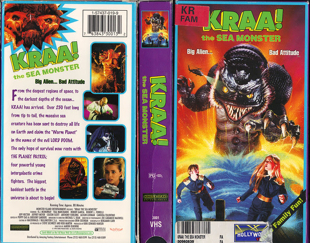 Kraa! The Sea Monster (VHS Box Art)