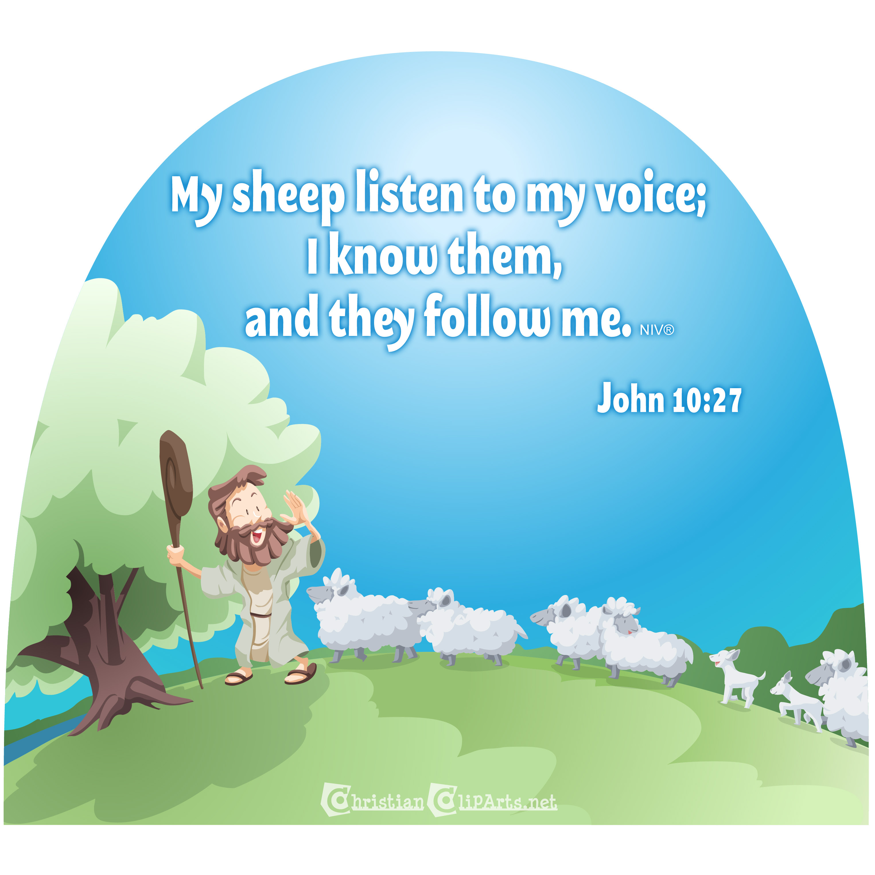 My sheep listen to my voice