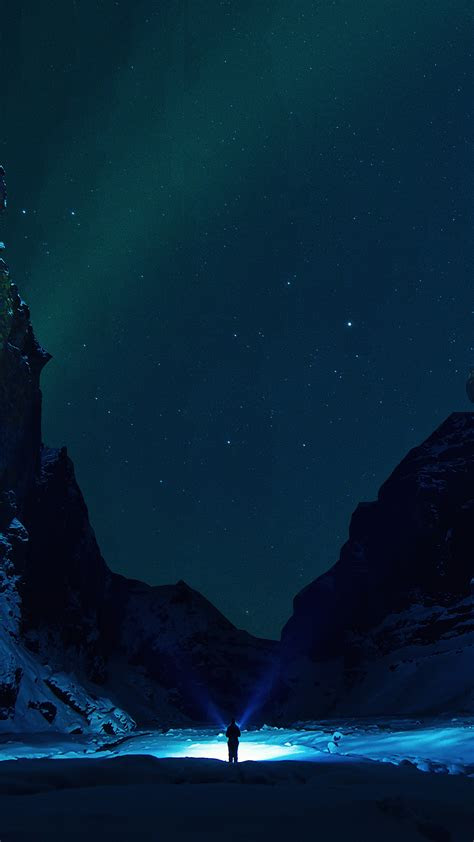 nv winter dark night mountain nature wallpaper