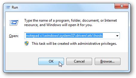 Acceder al archivo Hosts