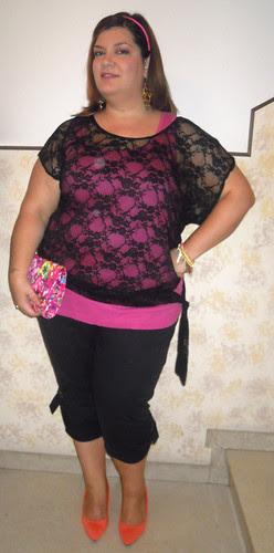Pink, Orange and black