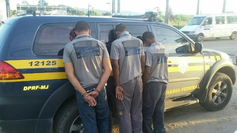 Trio foi autuado por furto e formação de quadrilha (Foto: Divulgação/PRF)