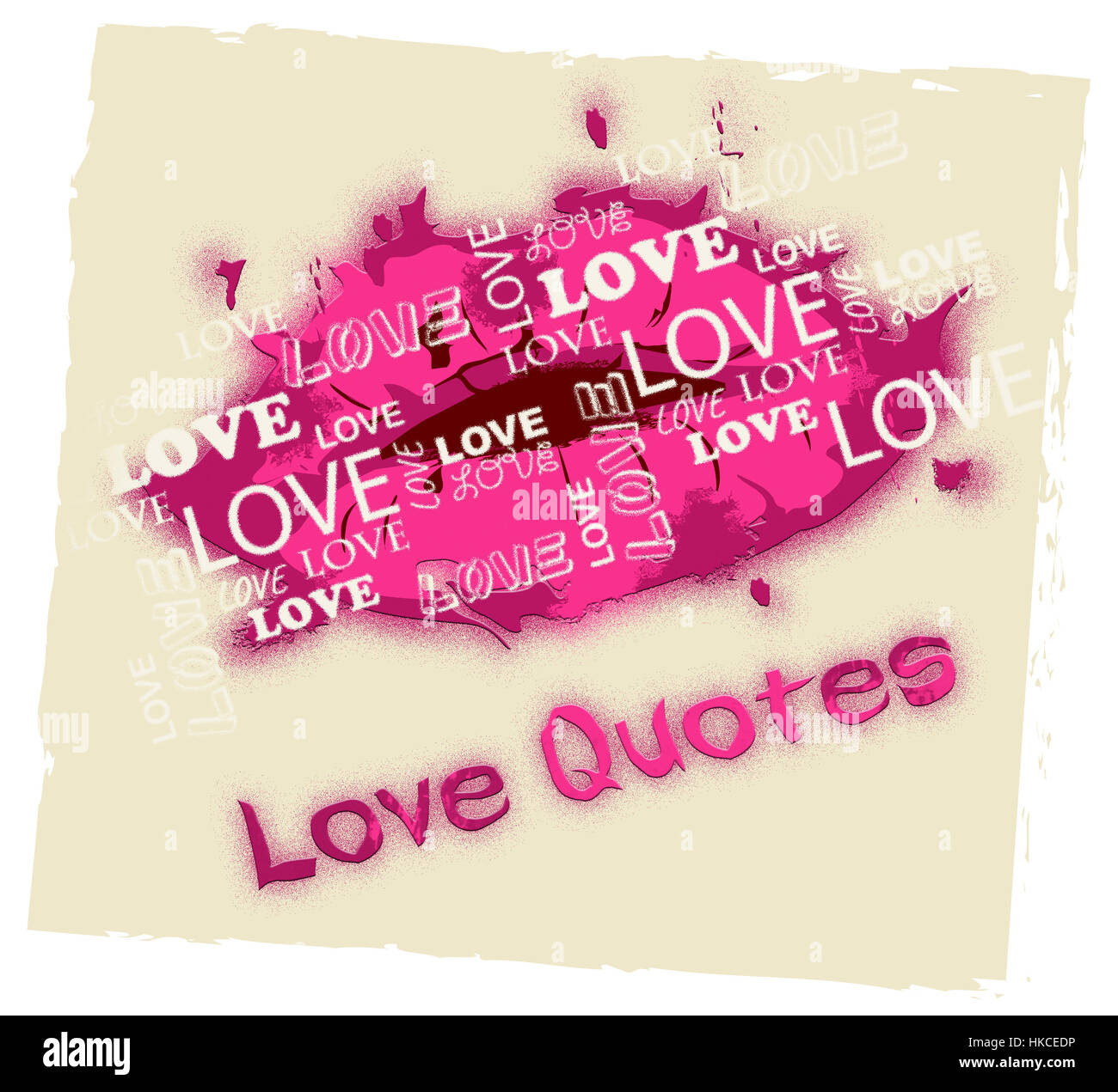 Love Quotes Lips Shows Loving Inspiration And Affection