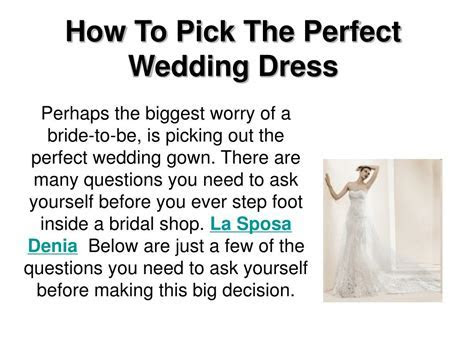 PPT   How To Pick The Perfect Wedding Dress PowerPoint