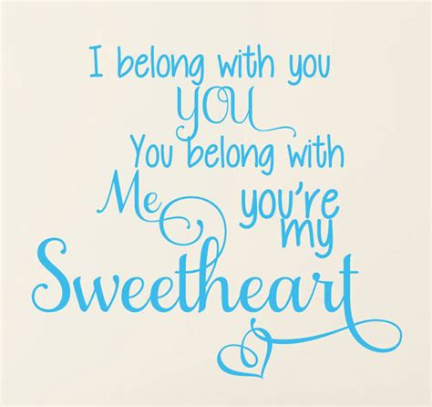 You Belong With Me Quotes
