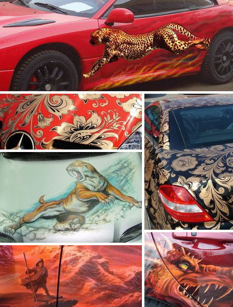 Style to Go: 15 Examples Of Awesome Automotive Art   WebUrbanist