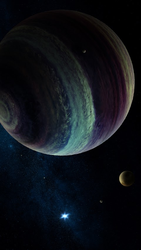 اجمل خلفيات قمر خلفية القمر مقربة بشكل كبير مع بعض الكواكب والنجوم بدقة عالية hd