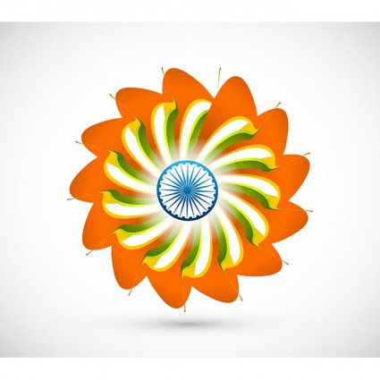 Beautiful Indian Flag Made Flower India Independence Day Wallpaper