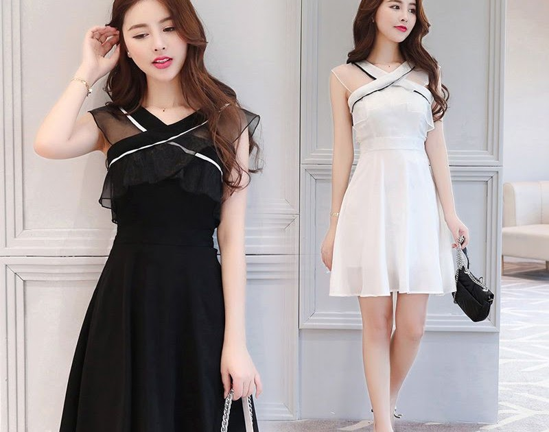 Party Long Dress Korean Style Weight Lifting