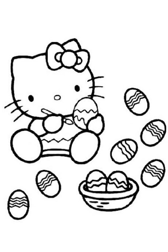Easter Coloring Pages - Ms. Cat's Honest World