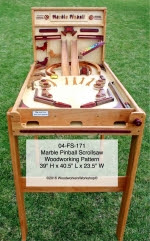Marble Pinball Machine Scrollsaw Woodworking Plan - fee plans from WoodworkersWorkshop® Online Store - marble machines,pinball,scrollsawing,woodworking plans,patterns,projects,blueprints,schematics
