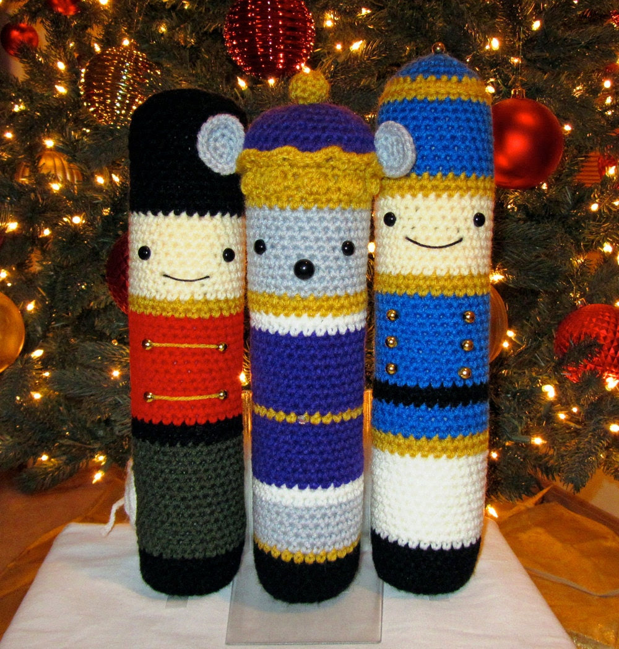 Crochet Patterns: Amigurumi Christmas - Nutcracker, Mouse King, Tin Soldier