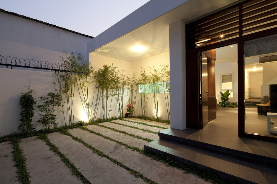 Urban Vietnamese House - Garden, Kitchen, Dining and Living Space ...