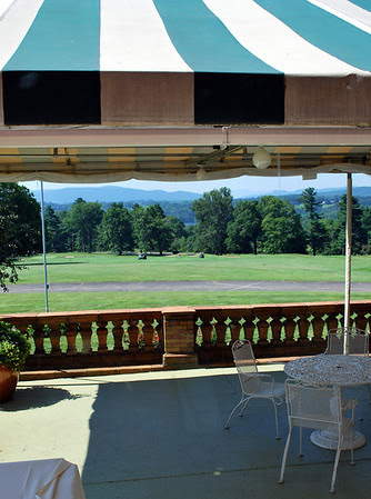 Terrace of the Mansion at the Cranwell Resort, Spa, and Golf Club