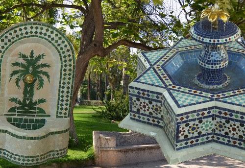 artisanat marocain de marrakech choix et installation d 39 une fontaine de jardin. Black Bedroom Furniture Sets. Home Design Ideas