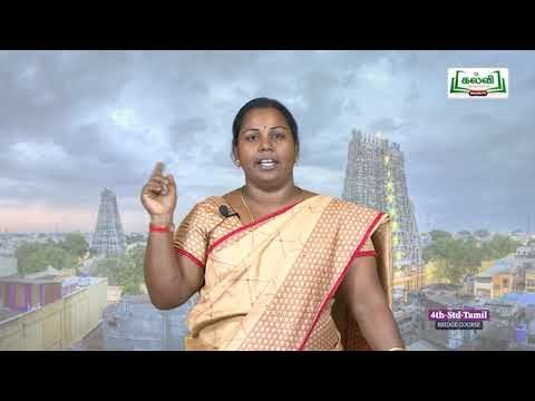 4th Tamil தமிழ் மொழியின் பெருமை Kalvi TV