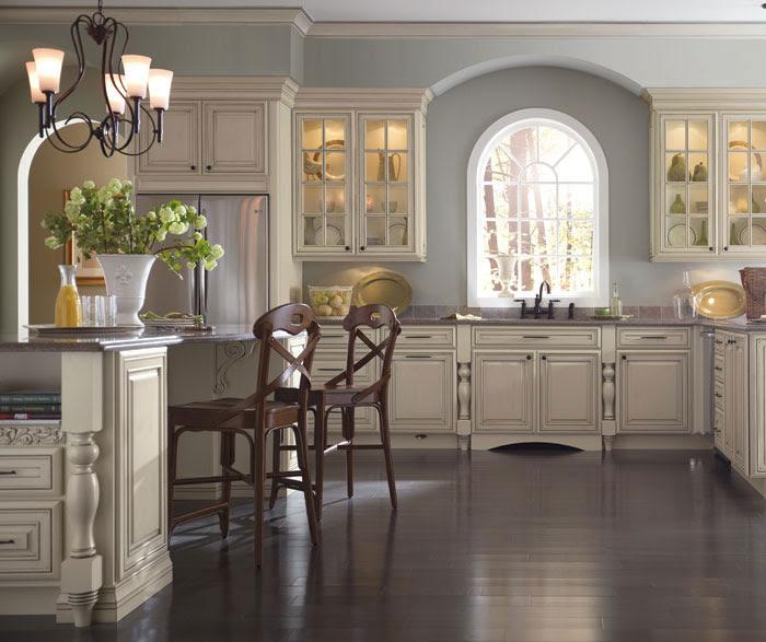Cream Kitchen Cabinets with Glaze - Schrock Cabinetry