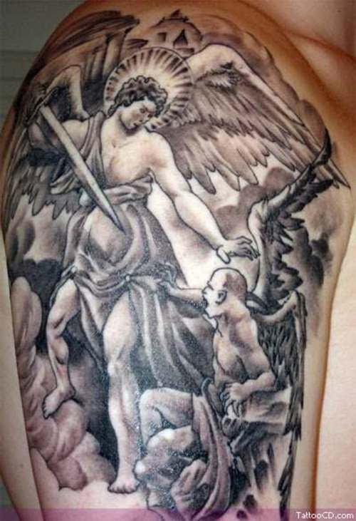 Brutal Angels And Demons Tattoo Picture Tattoomagz