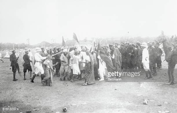 Image result for women demonstrators at the Esplanade Maidan in Bombay with lathis.