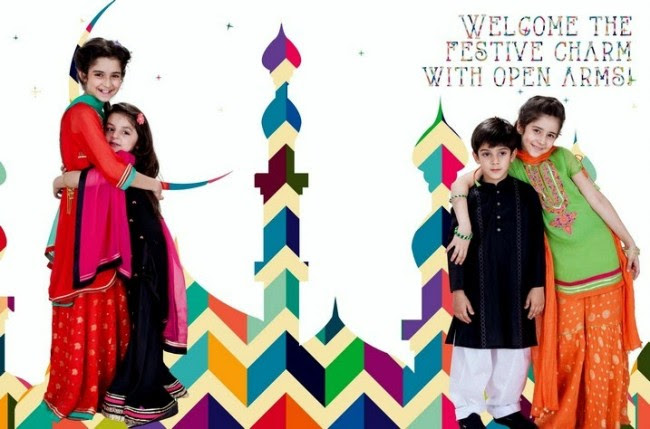 Beautiful-Boys-Girls-Kids-Eid-New-Fashion-Suits-Dress-by-Nishat-Linen-2