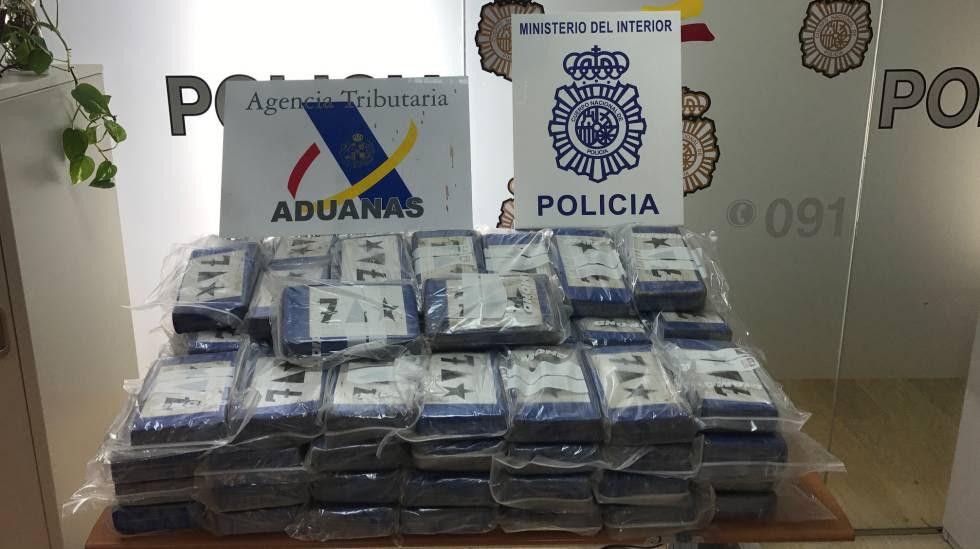Droga incautada en el Puerto de Algeciras proveniente de Ecuador.