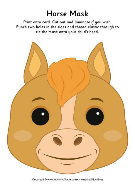 Horse Mask Printable | CIEKAWE | Pinterest | Search, Masks and Horses