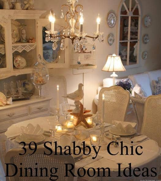 39 Shabby Chic Dining Room Ideas « DIY Cozy Home