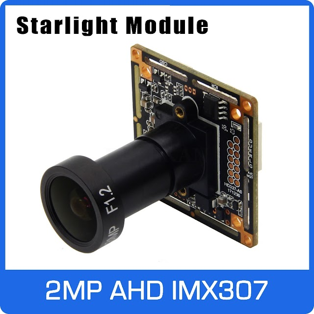 Beste Kopen Starlight 1080 P AHD Camera Module Board Met IMX307 En F1.2 4mm Lens UTC Coaxiale OSD Controle Kleurrijke Nightvision Goedkoop