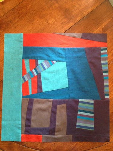 Gee's Bend-inspired block for Nicole's Bee Happy month