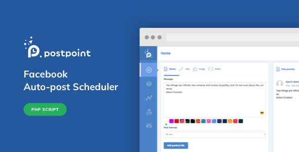 CodeCanyon - Facebook Auto Post & Scheduler - PostPoint Facebook v1.0.4 Nulled