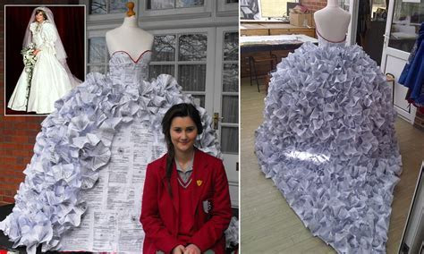 The divorce dress: Schoolgirl's incredible design made out