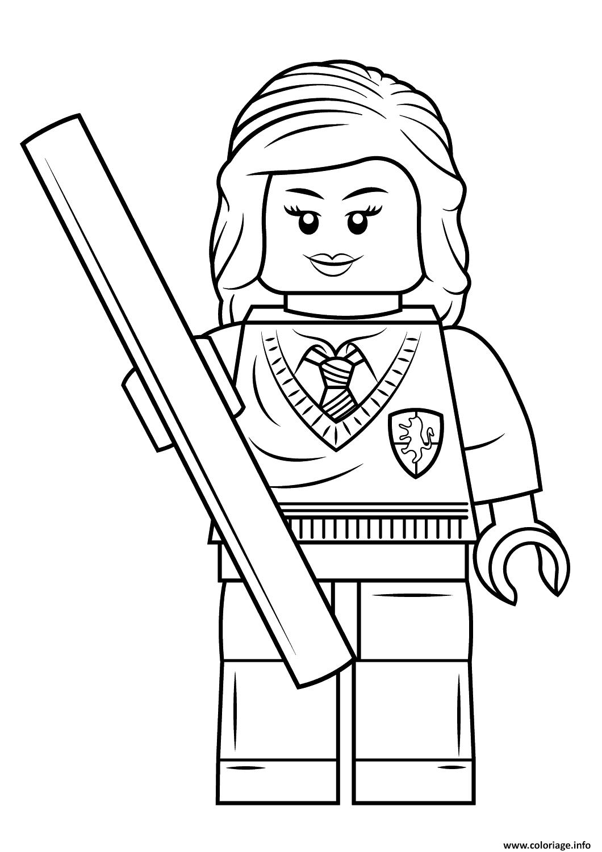 Coloriage Lego Hermione Granger Harry Potter Dessin  Imprimer