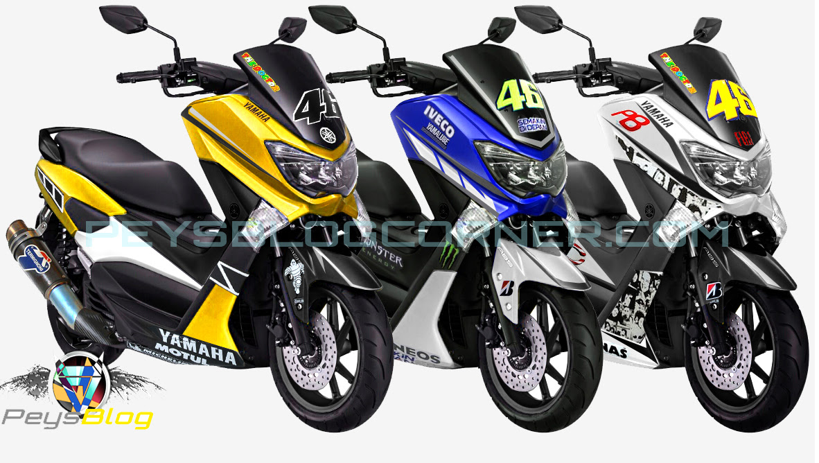 70 Modifikasi Stiker Motor Yamaha Nmax Modifikasi Yamah NMAX