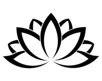 Black Outline Lotus Flower Clip Art Library