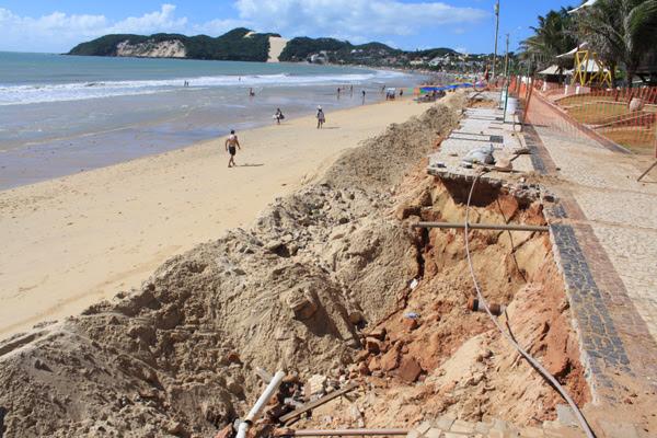 Parte dos recursos para a reconstrução do calçadão de Ponta Negra já está disponível