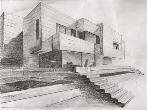 point perspective piece  effective shading
