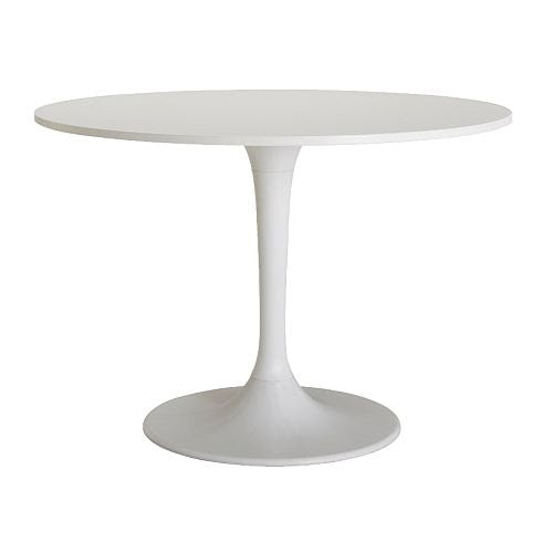 DOCKSTA Table IKEA A round table with soft edges gives a relaxed impression in a room.